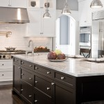Stunning  Traditional White Kitchen with Black Island Inspiration , Beautiful  Contemporary White Kitchen With Black Island Picture Ideas In Kitchen Category