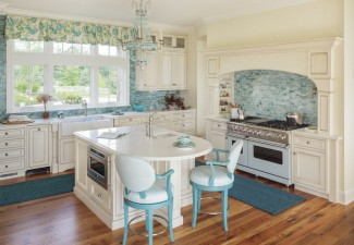 990x794px Charming  Beach Style Kitchen Island With Microwave Picture Ideas Picture in Kitchen