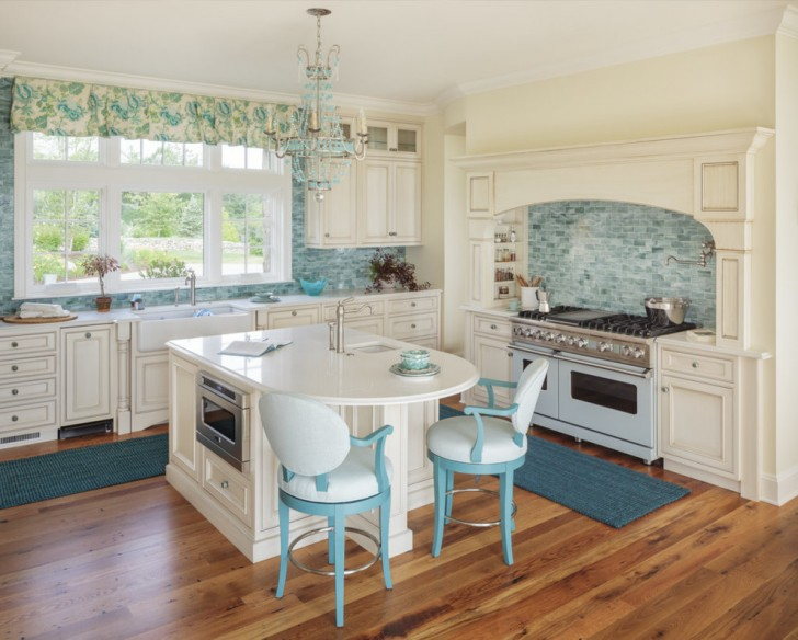 Kitchen , Charming  Beach Style Kitchen Island With Microwave Picture Ideas : Wonderful  Beach Style Kitchen Island with Microwave Photo Ideas