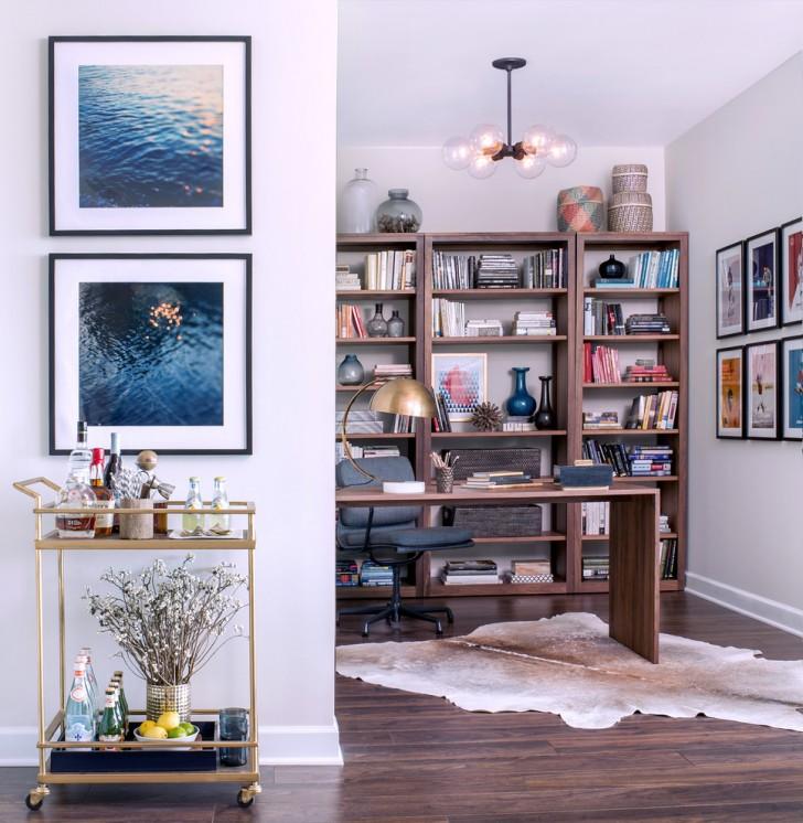 Home Office , Wonderful  Contemporary Bar Cart Brass Photo Inspirations : Wonderful  Contemporary Bar Cart Brass Image Ideas