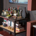 Wonderful  Contemporary Industrial Bar Cart Photos , Lovely  Traditional Industrial Bar Cart Picture Ideas In Living Room Category