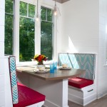 Wonderful  Contemporary Upholstered Breakfast Nook Set Photo Inspirations , Stunning  Beach Style Upholstered Breakfast Nook Set Image Ideas In Dining Room Category