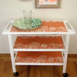 Wonderful  Contemporary White Bar Cart Image Ideas , Breathtaking  Farmhouse White Bar Cart Picture Ideas In Spaces Category