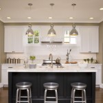 Wonderful  Contemporary White Kitchen with Black Island Image , Beautiful  Contemporary White Kitchen With Black Island Picture Ideas In Kitchen Category