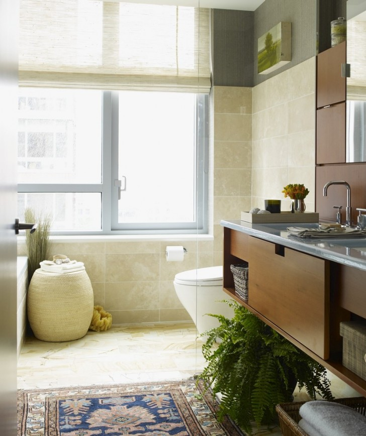 Bathroom , Gorgeous  Eclectic Small Round Bathroom Rugs Picute : Wonderful  Eclectic Small Round Bathroom Rugs Image