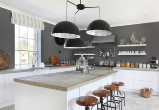 990x660px Lovely  Farmhouse Polishing Concrete Countertop Image Inspiration Picture in Kitchen