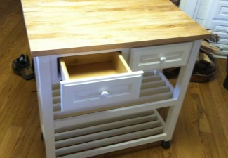 990x916px Beautiful  Farmhouse Rolling Butcher Block Cart Inspiration Picture in Kitchen