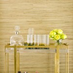Wonderful  Midcentury Gold Bamboo Bar Cart Image , Wonderful  Beach Style Gold Bamboo Bar Cart Ideas In Porch Category