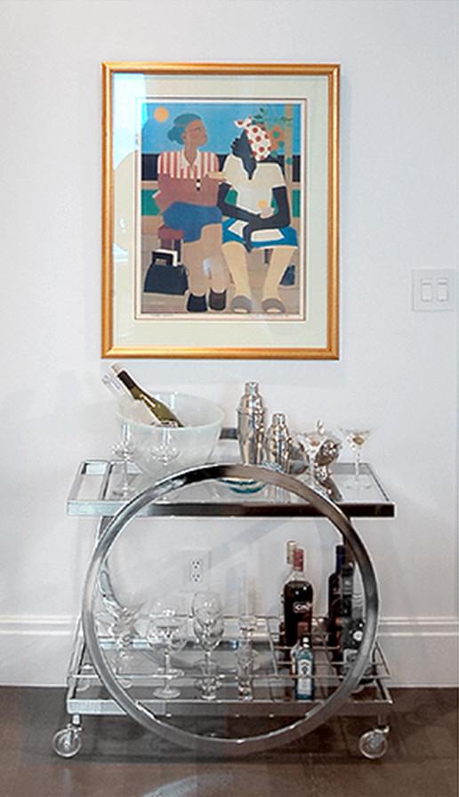 Bathroom , Stunning  Traditional Chrome Bar Cart Image Ideas : Wonderful  Modern Chrome Bar Cart Photo Ideas