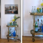 Wonderful  Traditional Antique Bar Cart Photo Inspirations , Cool  Contemporary Antique Bar Cart Image In Living Room Category