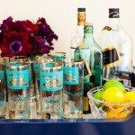 Wonderful  Traditional Glass Bar Cart Image Ideas , Lovely  Eclectic Glass Bar Cart Ideas In Dining Room Category
