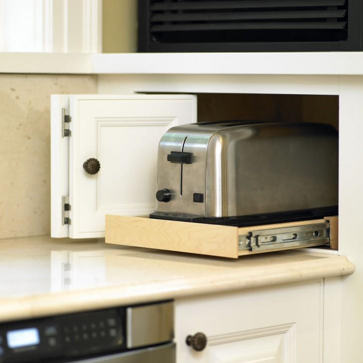 Kitchen , Stunning  Traditional Kitchen Appliance Storage Photo Inspirations : Wonderful  Traditional Kitchen Appliance Storage Image Inspiration