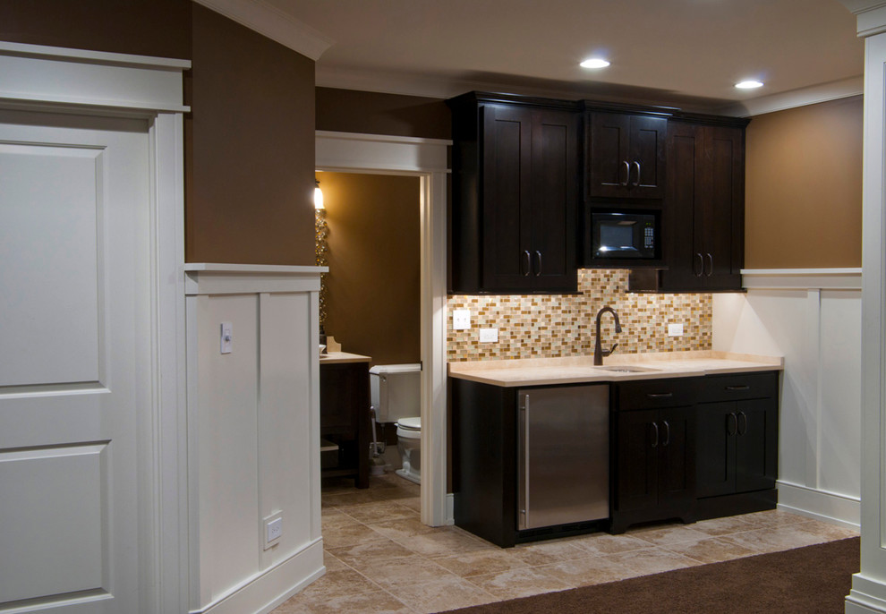 990x686px Charming  Traditional Kitchenette Cabinets Image Ideas Picture in Basement