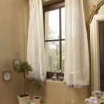 Wonderful  Traditional Short Bathroom Window Curtains Image , Lovely  Beach Style Short Bathroom Window Curtains Photo Inspirations In Bathroom Category