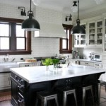 Wonderful  Traditional White Kitchen Black Island Ideas , Lovely  Traditional White Kitchen Black Island Picture In Kitchen Category