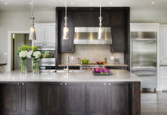 990x658px Charming  Transitional Unfinished Stock Cabinets Ideas Picture in Kitchen